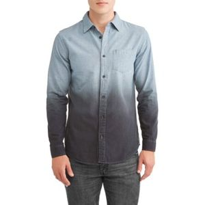 George Slim Fit Dip Dye Woven Shirt Small